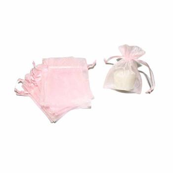 """4"""" Pink Organza Pouch"""