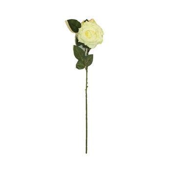 "20"" White Long Stem Single Rose Flower"