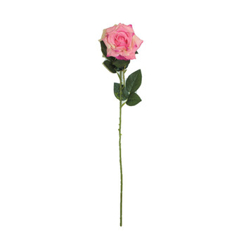 "20"" Peach Pink Long Stem Single Rose Flower"