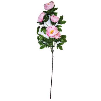 "45"" Pink Long Stem Peony Flower"