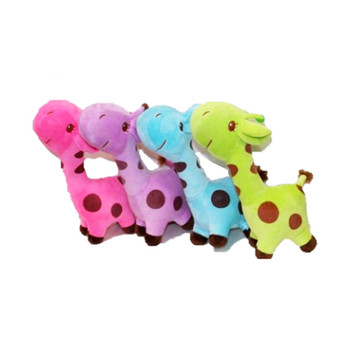 "10.5"" Assorted Color Giraffe Plush"
