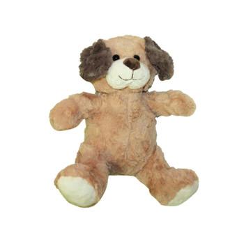 """10""""   L. Brown Plush Baby Dog"""