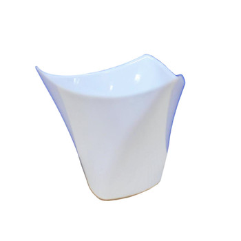 "2.50""  White Triangle Plastic Dessert Bowl"