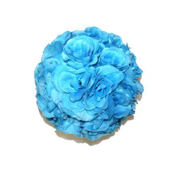 "7"" Turquoise Flower Ball"