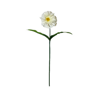 "32"" White Long Stem Gerbera Daisy Flower"