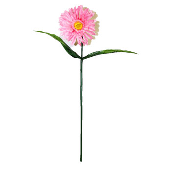 "32"" Pink Long Stem Gerbera Daisy Flower"