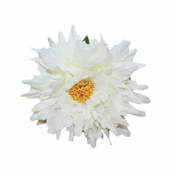 "27"" White Long Stem Single Chrysanthemum Flower"