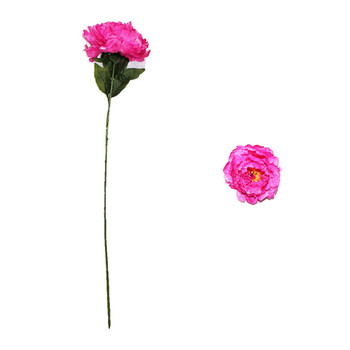 "30"" Fuchsia Long Stem Peony Flower"