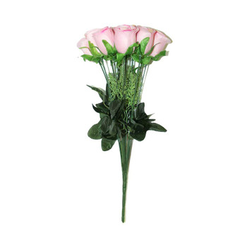 "15"" Bunch Of Roses, 12 Stems. Pink"