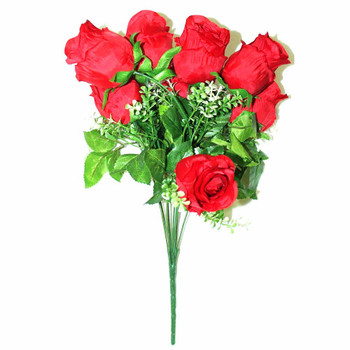"15"" Bunch Of Roses. 9 Stems. Red"