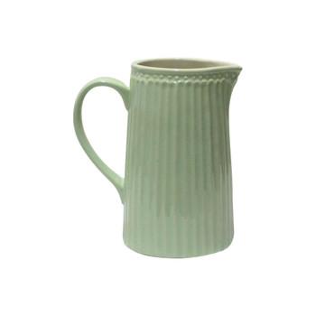 """6.5""""H Green Ceramic Pitcher"""