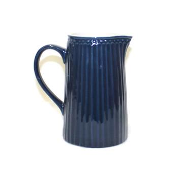 """5.5""""H Blue Ceramic Pitcher"""