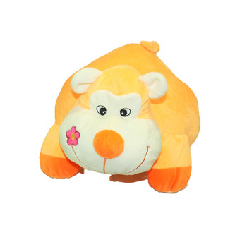 """16"""" Lying Animal Orange Monkey"""