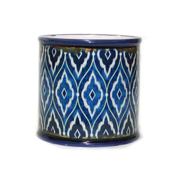 Blue Mosaic Ceramic Cylinder V2
