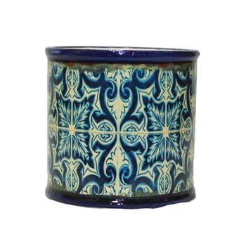Blue Mosaic Ceramic Cylinder  V3