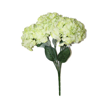 "20""  Green Hydrangea Bunch Flower"