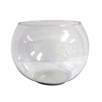 "12"" Fish Bowl Glass Vase"