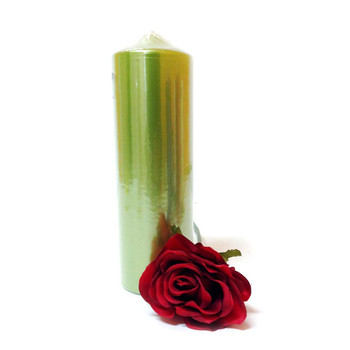 "2.75""X 9"" Metallic Fresh Green Pillar Candle"