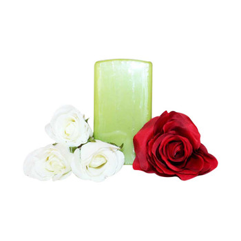 "2.75"" X  5"" Square Fresh Green Pillar Candle"