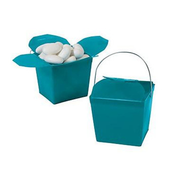 "2.25"" Turquoise Take Out Boxes"