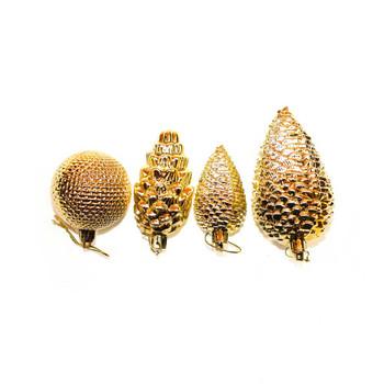 Gold Shatterproof Christmas Ornaments