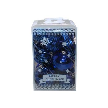 Blue Christmas Ornaments - Shatterproof