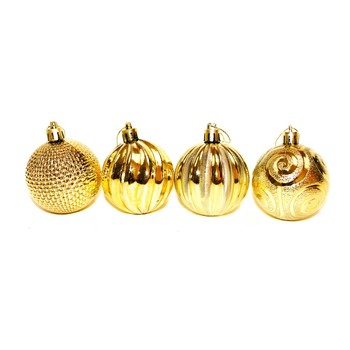 Gold Christmas Ornaments - Shatterproof