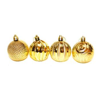 Gold Christmas Ornaments - Shatterproof