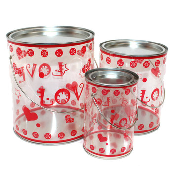 I Love You Plastic Container Set of 3