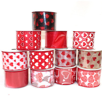 "2.5"" Assorted Red Chiffon Ribbon"