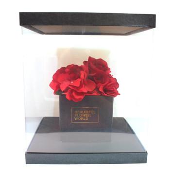 Large Black Flower Display Box