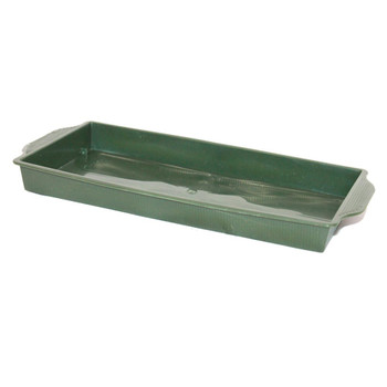 "9"" Green Single Brick Plastic Flat Tray"