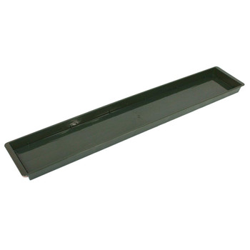 "28.5"" Green Triple Brick Plastic Flat Tray"