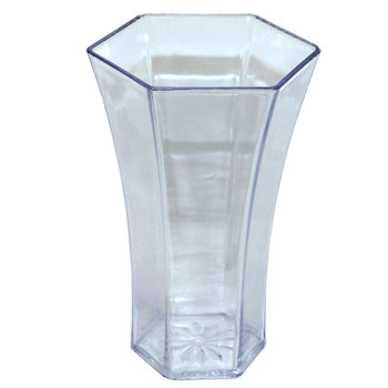 "8.25""H Clear Acrylic Rose Vase"