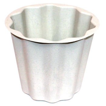 "8"" Grey Flower Pot Container"