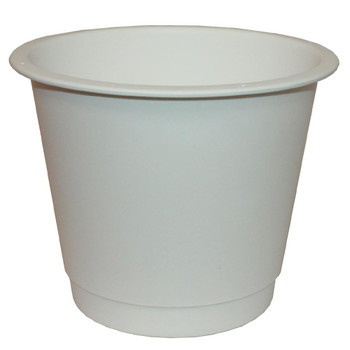 "7"" Small White Plastic Bucket"