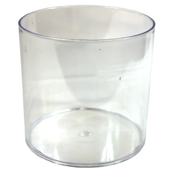 "4"" Clear Acrylic Cylinder Vase"