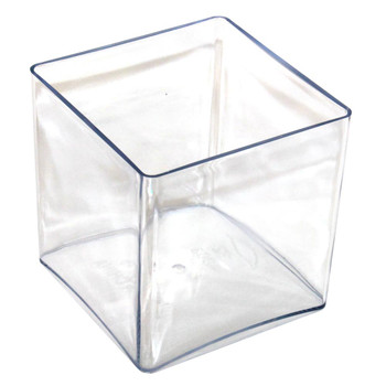 "7"" Clear Acrylic Square Vase"