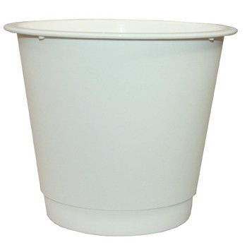 "10"" Large White Plastic Bucket"