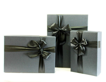 Black Rectangular Gift Box Set of 3