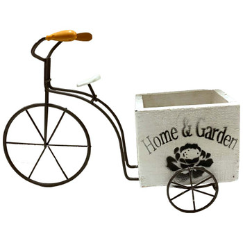 "12"" Wood and Iron Bicycle Planter"