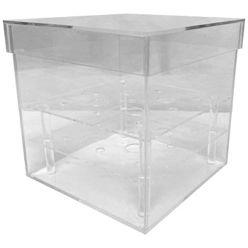"6"" Clear Acrylic Square Flower Box"
