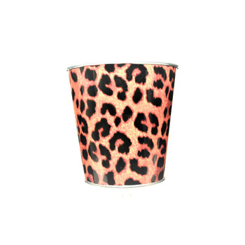 4.25'' Animal Print Metal Bucket