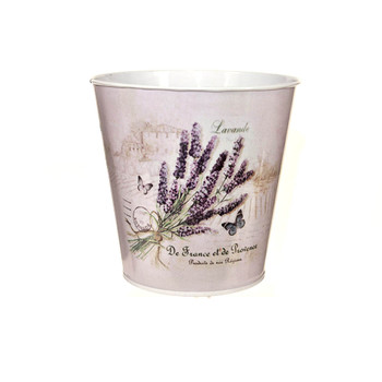 5'' Lavender Metal Bucket