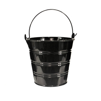 5'' Black Metal Bucket