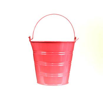 5'' Hot Pink Metal Bucket
