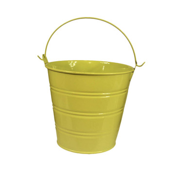 5'' Apple Green Metal Bucket