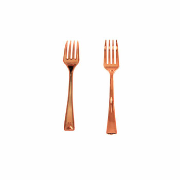4'' Rose Gold Mini Plastic Fork