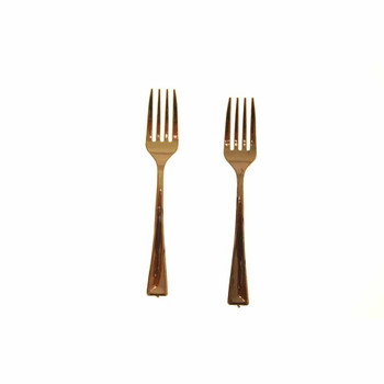 4'' Gold Mini Plastic Fork