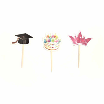 Decorative Paper Picks - 12 Pieces